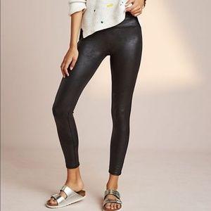 Spanx black  faux leather leggings NWOT